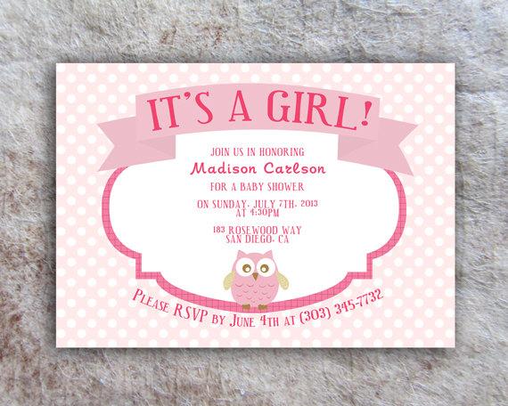 printable owl baby shower invitation - diy on luulla, Baby shower invitations